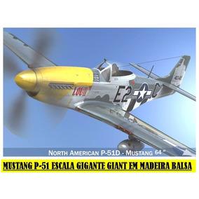 Planta Pdf Mustang P-51 Escala Gigante Giant Em Balsa