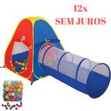 Barraca Toca Infantil 2 Em 1 Com 60 Bolinhas Frete Grátis