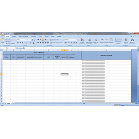 Planilla Excel Exportable F906 - Sipot Dgr