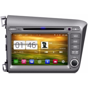 Central Multimídia Android Wifi Honda Civic Cinza 2012-2014