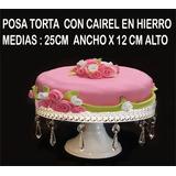 Posa Torta , En Hierro , Con Caireles