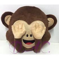 Almofada Emoji/emoticon Macaco Whatsapp Macaquinho Cego
