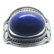 Anel Indiano Em Prata 925 Com Lápis-lazuli