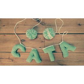 Guirnalda Letras Tejidas A Crochet