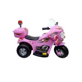 Mini Moto Elétrica Infantil Triciclo Motoca Criança 6v Rosa