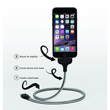Cable Iphone 4 5 6 7 Stand Metal Cargador 0.80mt Usb Resiste