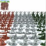Set De 100 Piezas Soldados 4 Cm Plastico 12 Poses