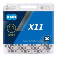 Corrente Kmc X11 Prata 118 Elos 11v Shimano Sram Speed Mtb