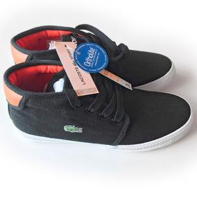 Zapatillas Lacoste Niño Botitas Nuevas Original Color Negra