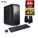 Pc Gamer A6 7400k 4gb 500gb 2gb Video Hdmi 4k Techstore