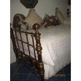 Antigua.cama De Bronce 1 Plaza Y Media