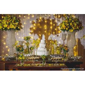 Cortina De Led 220v 3x3m Luz Amarela De Festas Casamentos