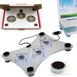 Fan Cooler Ventilador Para Laptop 3 Venir Con Luces
