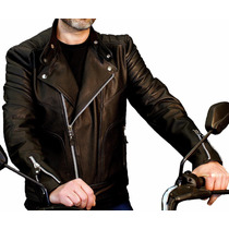 Jaqueta Masculina Motoqueiro Motociclista De Couro Legítimo