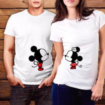 Playera Día Del Amor Mickey Minnie Novios Pareja