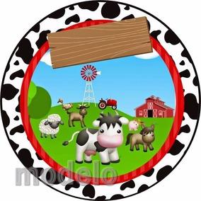 Kit Festa Infantil Personalizados 195 Adesivos Fazendinha 6
