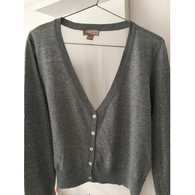 Sweater Gris Forever 21 Talle M Con Transparencia eb4000ed552c