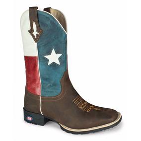 Bota Texana Cano Longo Bico Quadrado Bico Quadrado Top
