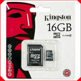 Memoria Micro Sd Hc 16 Gb Clase 4 Kingston Original Sellada