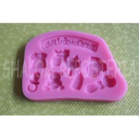 *molde Silicon 8 Figuras Bebe Baby Shower Fondant Cupcakes*