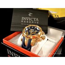 Relógio Invicta Reserve Venom 14465 Azul Banhado Ouro18k J82