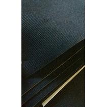Tecido Banco Opala/chevete Antigo Cotele Risco Fino Preto