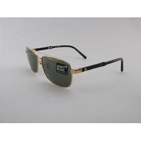 Óculos De Sol Mont Blanc 648 Gold Premium