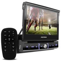 Dvd Player Automotivo 7 P Touch Retrátil Gps Esp Sp6920nav