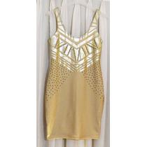 Vestido Tucci Dorado Hermoso!!!