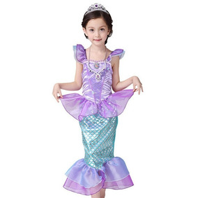 Fantasia Sereia Ariel Infantil 5 A 7 Anos Carnaval