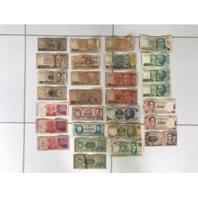 Cédulas De Dinheiro Antigo Lote Com 29 Unidades