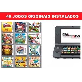 Nintendo New 3ds Xl Preto, 40 Jogos Originais Instalados Nf