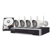 Kit Ip Inalámbrico 1080p Nvr 4ch 4 Cam Bala Exterior, Hd 1tb