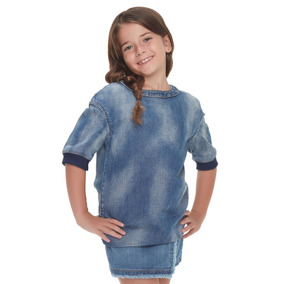 Vestido Innermotion De Mezclilla Para Niñas. Est. 7117