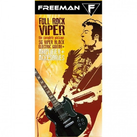 Pack De Guitarra Eléctrica Full Rock Viper, Negro, Freeman
