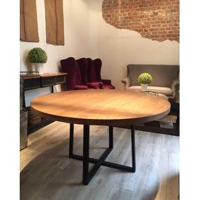 mesa redonda comedor madera mueble herrera diseo roble - Mesa Redonda Comedor