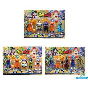 Kit Cartela 5 Bonecos Dragon Ball Z Sortido Goku Vegeta A221
