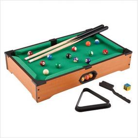Mini Mesa De Sinuca Snooker Em Madeira - 51x31x10cm