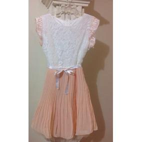 Vestido Corto Tierno Encaje Vintage Plisado C209