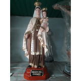 Virgen Del Carmen Yeso 40cm A Color