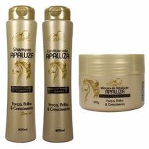 Kit 6 Shampoo 6 Condicionador 6 Máscara Apaluza Belkit