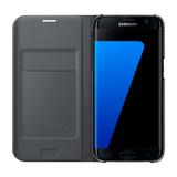 Estuche Forro Samsung S7 Edge Flip Wallet Cover Negro