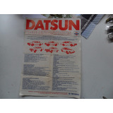 Folleto Datsun Nissan Antiguo No Manual 280zx 1981 1979 Silv