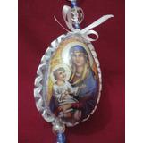Escapulário Católico De Porta - Nossa Senhora E Menino Jesus