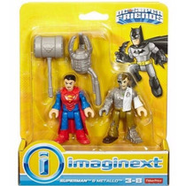 Imaginext Superman Y Metallo Dc Super Friends Fisher Price