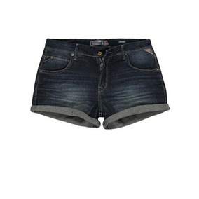 Shorts Jeans Feminino Barra Dobrada Khelf