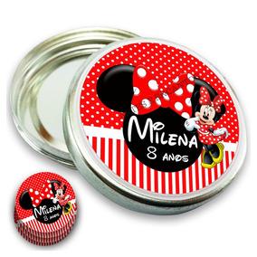 100 Rótulos Adesivo Minnie Mickey Personalizados Latinhas