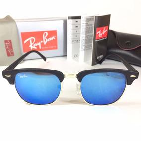 Oculos Ray Ban Club Master Quadrado 3016 Retro Verde Preto