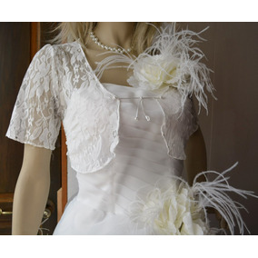 Bolero Torera Para Vestido De Novia Unitalla S-l