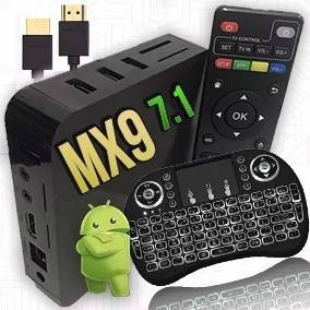 Smart Tv Box Mx9 Mxq Ultra 4k Tvbox + Mini Teclado Led